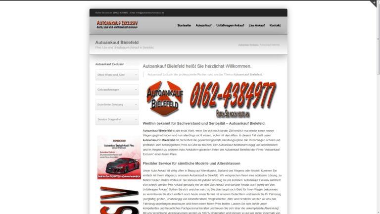 Unkomplizierter Autoverkauf mit dem Autoankauf Bielefeld