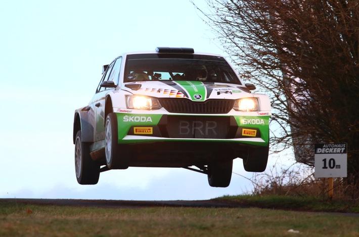 Fabian Kreim/Tobias Braun streben in der Deutschen Rallye-Meisterschaft zweiten Sieg an, SKODA AUTO Deutschland verspricht tolle Show in Sachsen