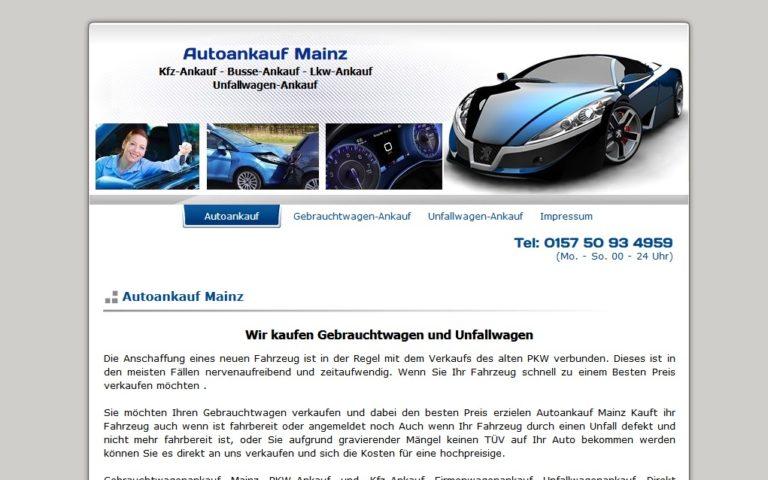 Autoankauf Mainz : Wir kaufen Gebrauchtwagen und Unfallwagen