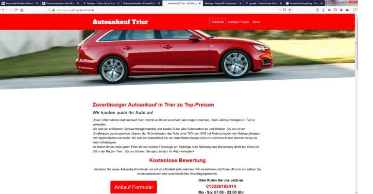 Autoankauf Trier : Wir bieten Ihnen mehr für Ihr Auto