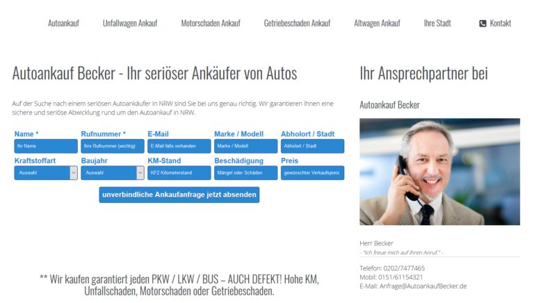 Autoankauf Bocholt – schnell und einfach Autos verkaufen
