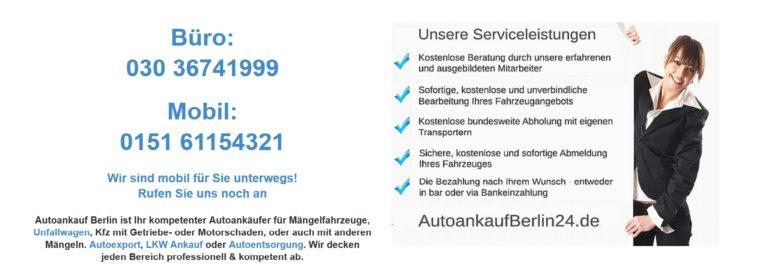 Autoankauf Berlin – Sofortige Preisauskunft – Autoankauf Berlin kauft jeden Gebrauchtwagen an!