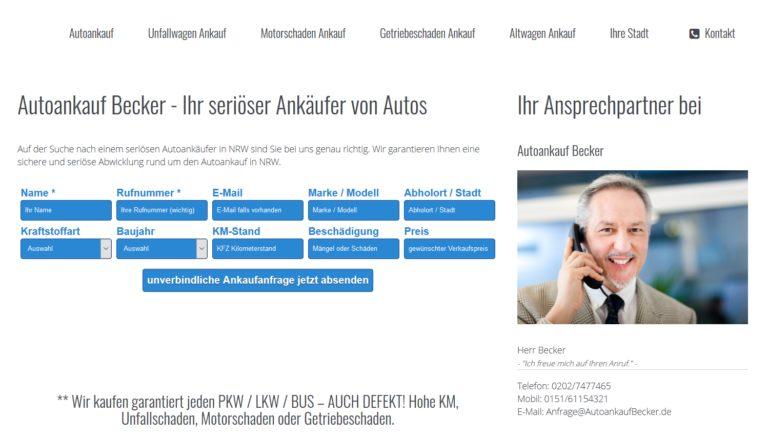 Gebrauchtwagen Ankauf Marl :  Autoankauf Becker