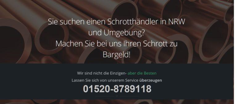 Schrottabholung in Düsseldorf – Schrotthändler NRW