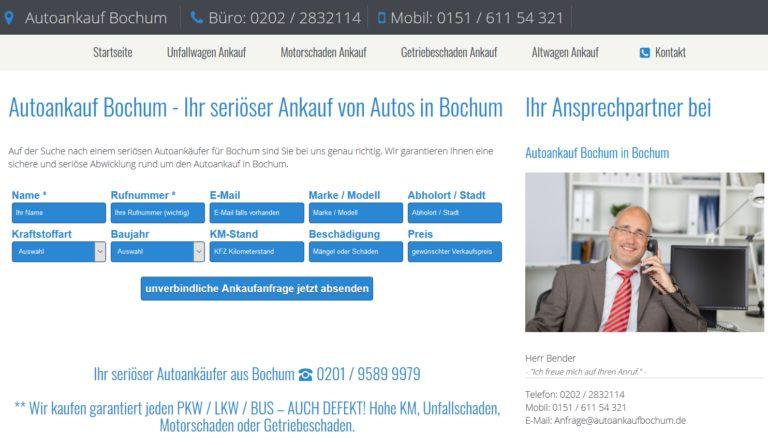 Autoankauf in Bochum | Wir kaufen Ihr Auto unkompliziert an!