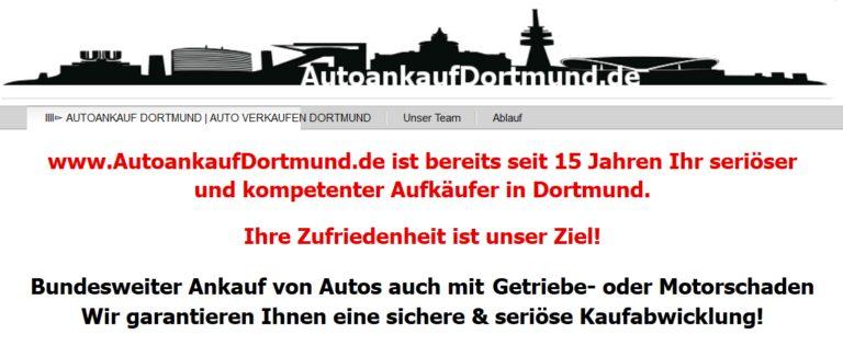 Auto verkaufen in Dortmund: Fair und unkompliziert!