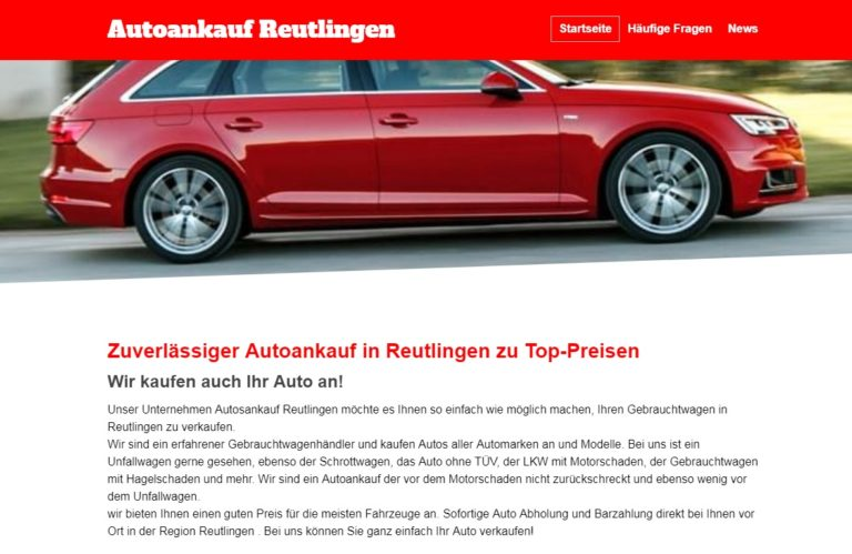 Autoankauf Reutlingen | Zuverlässiger Autoankauf in Reutlingen zu Top-Preisen