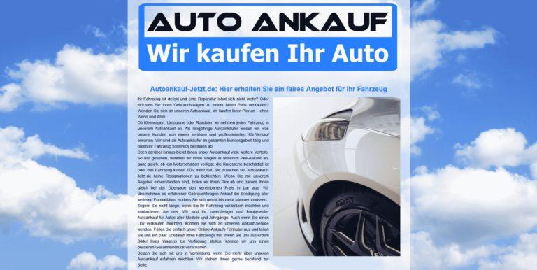 Verkaufen Sie Heute Ihr Alten Auto in Cuxhaven zum Besten Preis