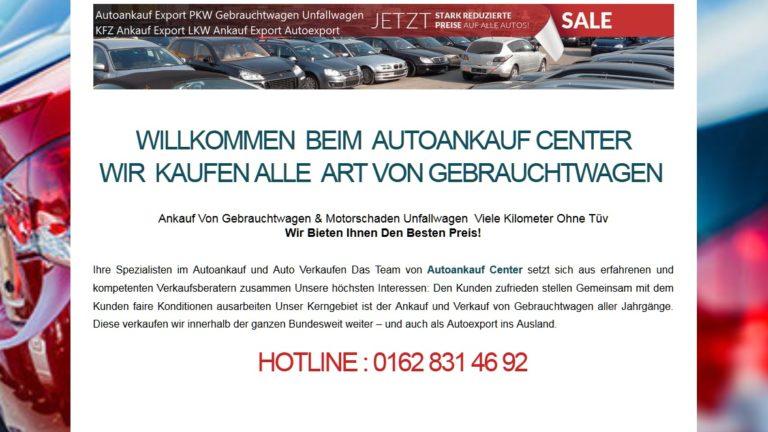 Autoankauf Erfurt kauft auch Export Autos