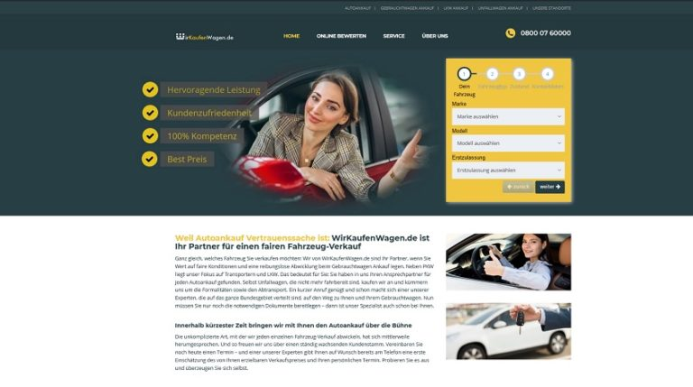 """Autoankauf Achen -Wir kaufen Wagen"""" ist auf Gebrauchtwagen aller Art spezialisiert"""