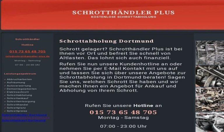 Kostenlos Schrottabholung in Dortmund und Umgebung