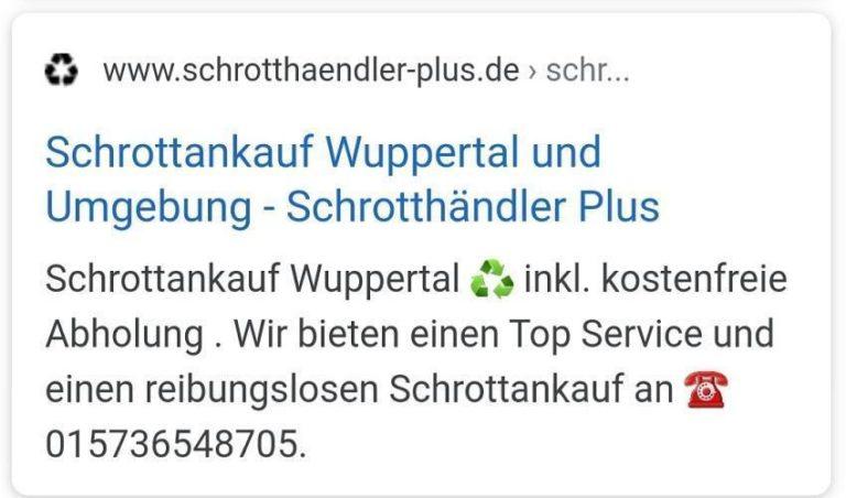 Schrottankauf in Wuppertal – Machen Sie mit Ihrem Schrott bares Geld!