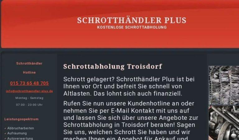Kostenlose Schrottabholung und Schrottentsorgung in Troisdorf