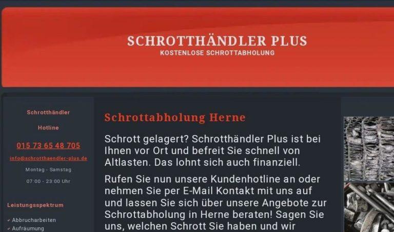 Kostenlose Schrottabholung in Herne durch professionelle Schrotthändler in Herne