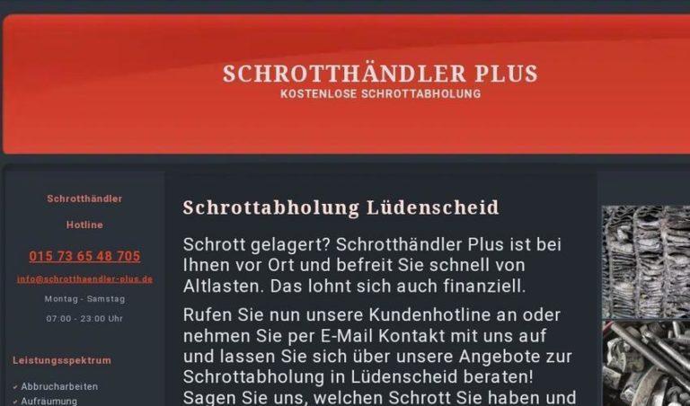 Kostenlose Schrottabholung in Lüdenscheid durch professionelle Schrotthändler in Lüdenscheid