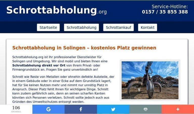 Schrottabholung in Solingen – mobile Schrotthändler im Einsatz