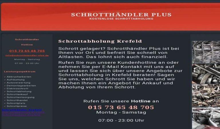 Kostenlose Schrottabholung Krefeld bei Ihnen ab – selbstverständlich für Sie kostenfrei