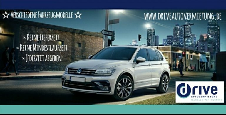Autovermietung: Kurz- bis Langzeitmiete bei der drive autovermietung