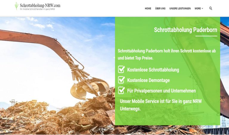 Mit dem Schrottabholung Paderborn ist es einfach, Metallschrott loszuwerden
