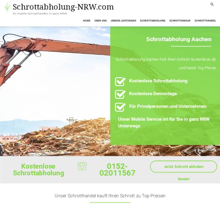 Der Schrottabholung Aachen kauft Ihren Metall- und Elektroschrott an