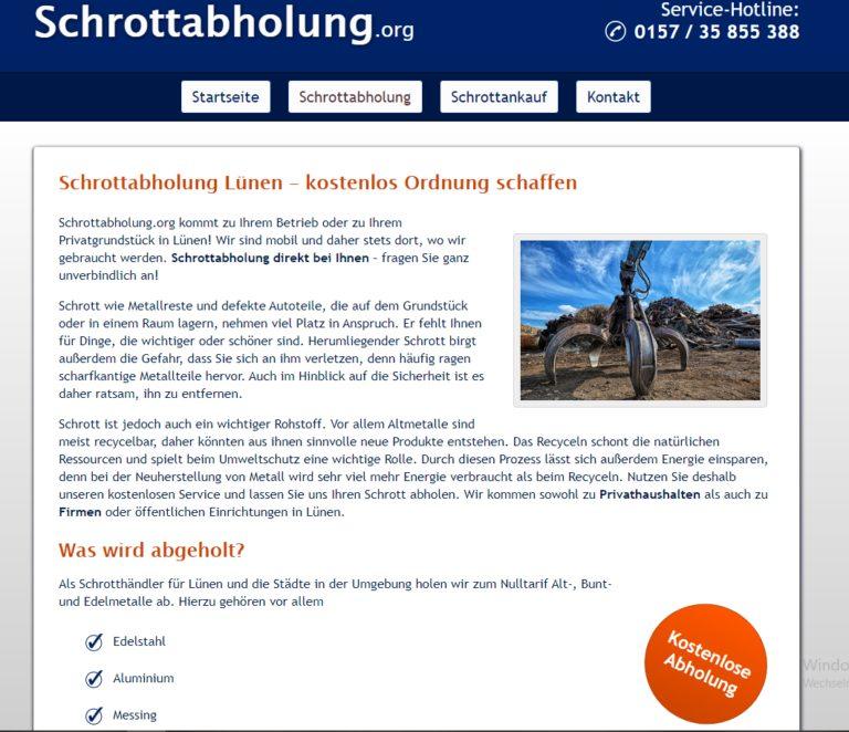 Die Schrottabholung in Lünen ist der Experte für Schrottabholung in ganz NRW