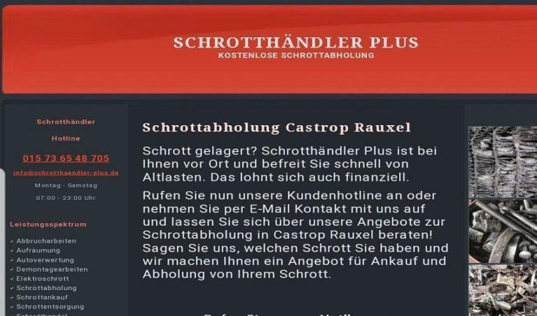 Schrottabholung Castrop Rauxel: Schrott und Altmetall loswerden in Castrop Rauxel und Umgebung