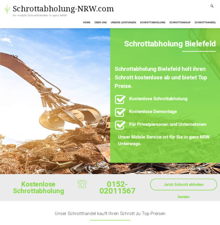 Schrottabholung Bielefeld bietet kostenlose Abholung von Schrott
