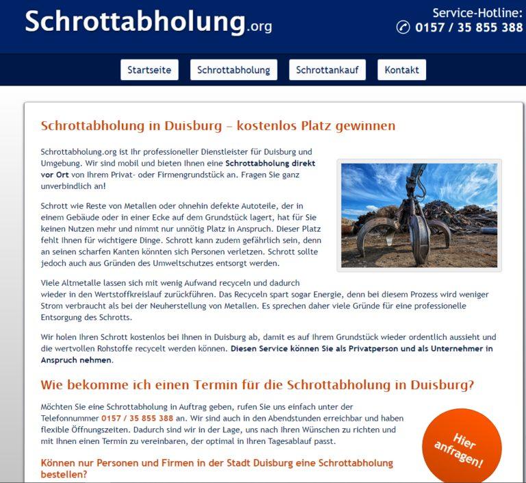 Die Schrottabholung in Gladbeck holt Ihren Altmetallschrott ab