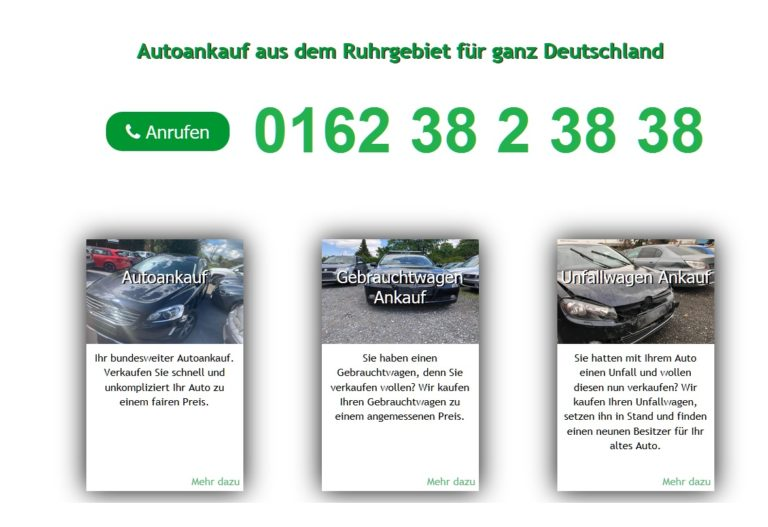 Autoankauf Mühlheim an der Ruhr : Auto Ankauf von Gebrauchtwagen