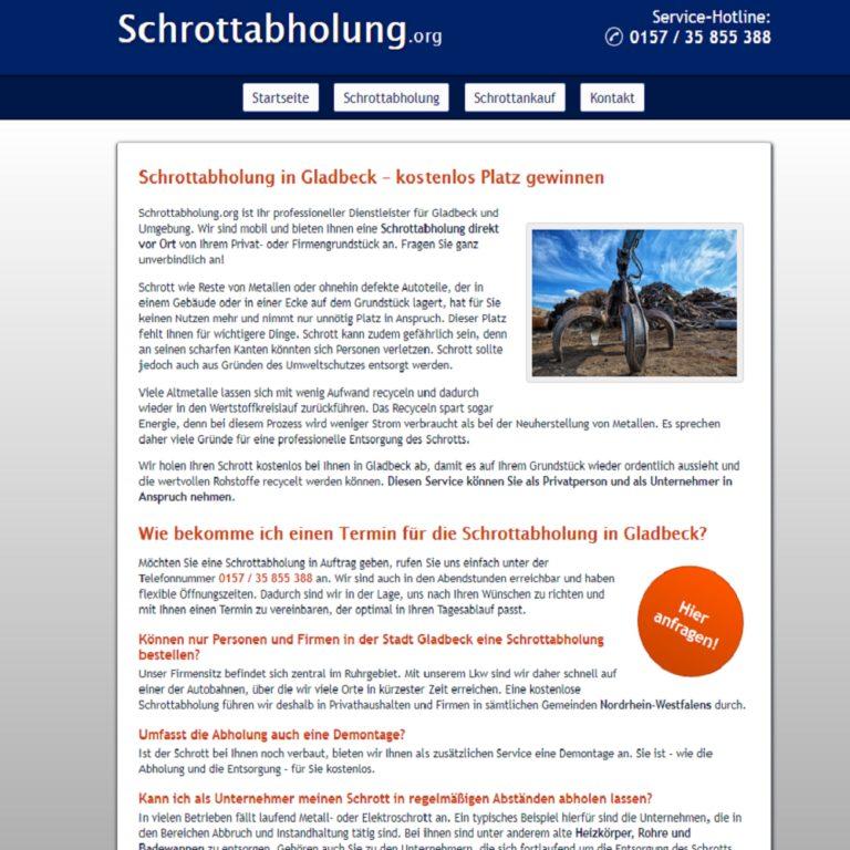 Schrottabholung in Gladbeck holt Ihren Altmetallschrott ab