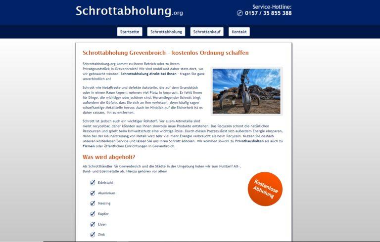 Schrottabholung in Grevenbroich – Metall aller Art abholen lassen