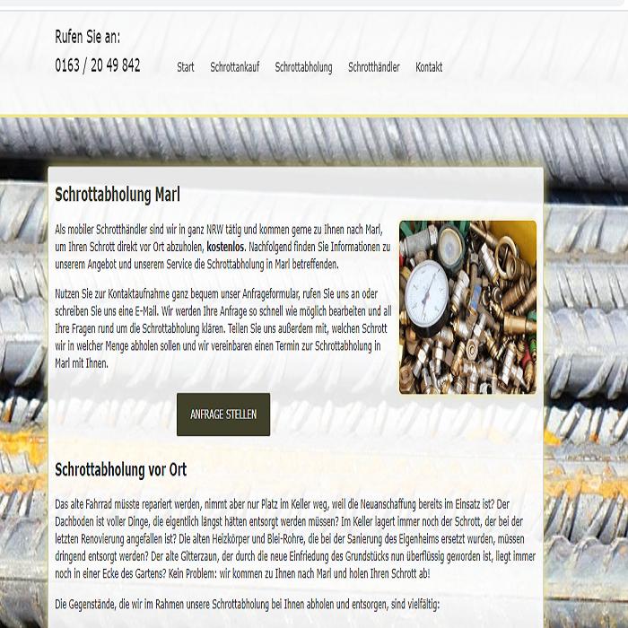 Schrottabholung Marl – Metall als Rohstoff kann sehr Gut recycelt Werden