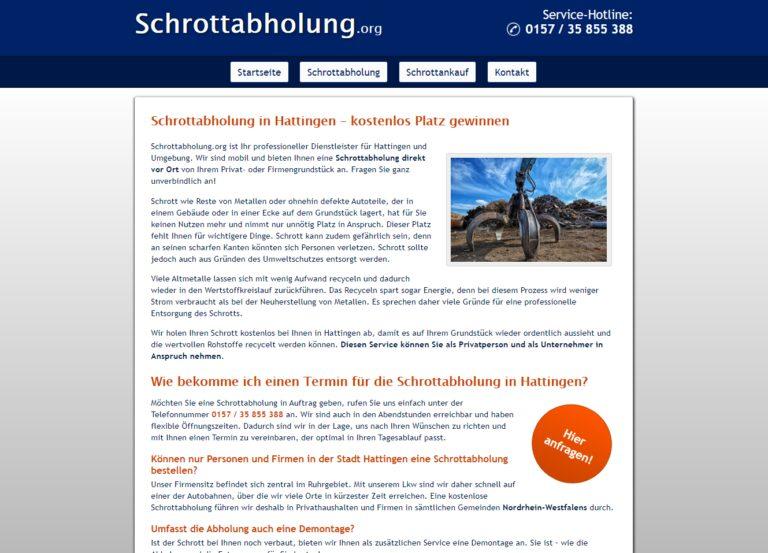 Die Schrottabholung in Hattingen bieten für den Schrott gutes Geld über Schrottabholung.org