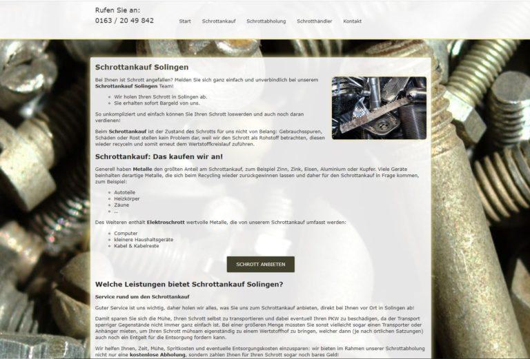 Schrottankauf Solingen – wertvolles Altmetall verkaufen