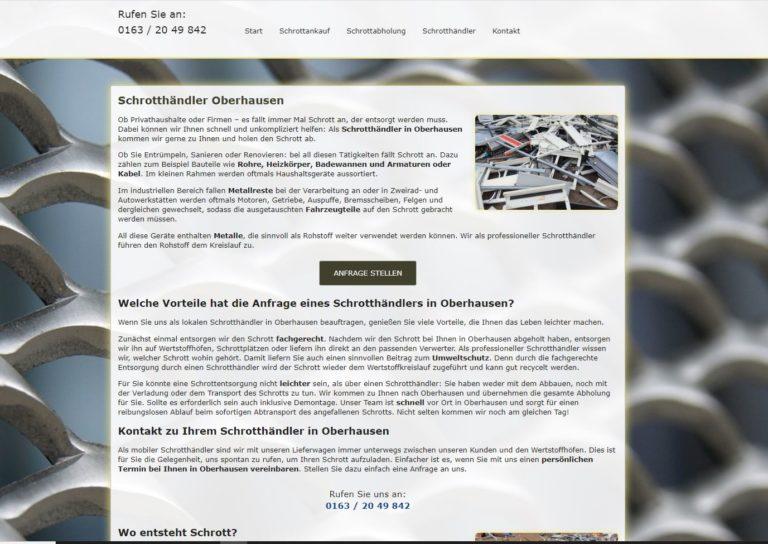 Fahrende Schrotthändler kaufen Schrott in Oberhausen
