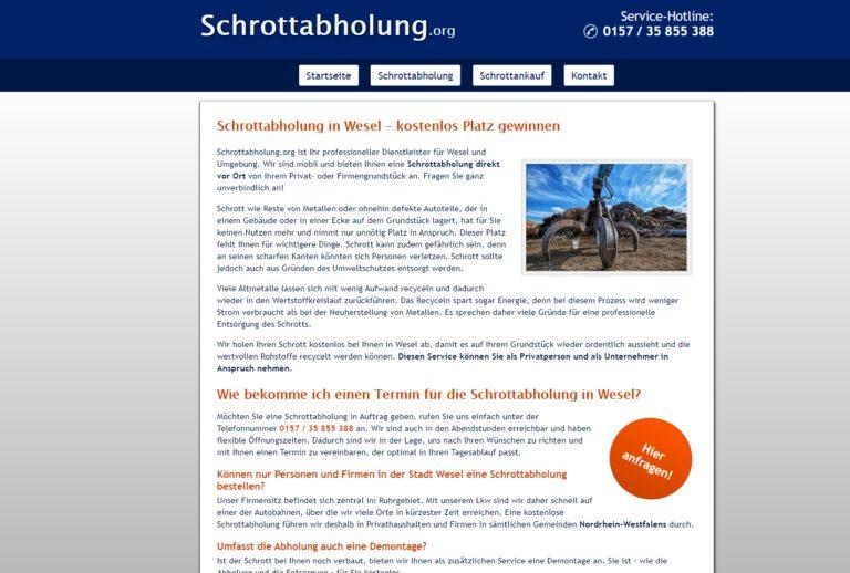 Das Team von Schrottabholung.org hilft bei der Demontage – Schrottabholung in Wesel