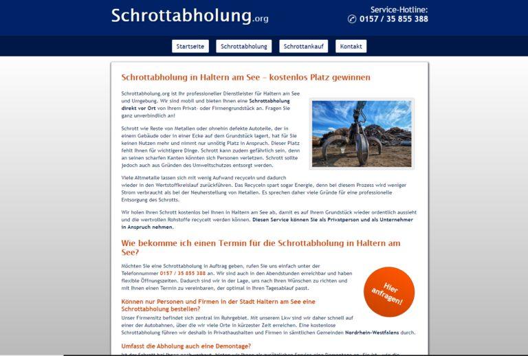 Wiederaufbereitung von Schrott mit der Schrottabholung.org – Schrottabholung in Haltern am See