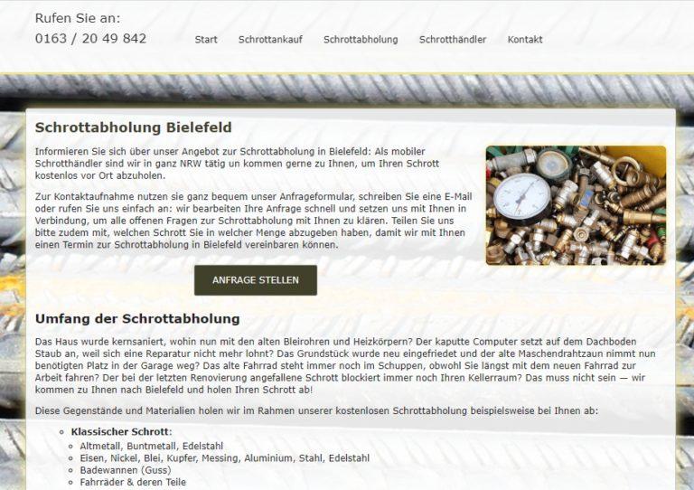 Schrottabholung in Bielefeld und ganz NRW