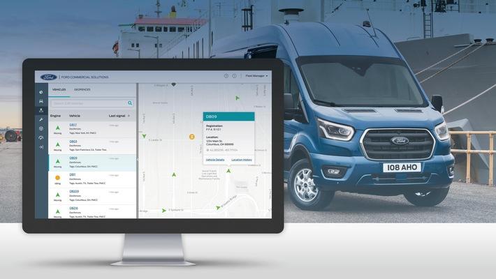 """Ford Telematics mit neuer """"Multi-Make""""-Funktion und App-Ergänzung bietet mehr Effizienz für Flottenmanager"""