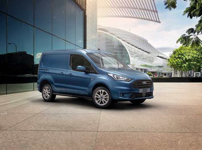 Ford Transit Connect – noch attraktiver dank sehr guter Kraftstoff-Effizienz und bis zu einer knappen Tonne Nutzlast