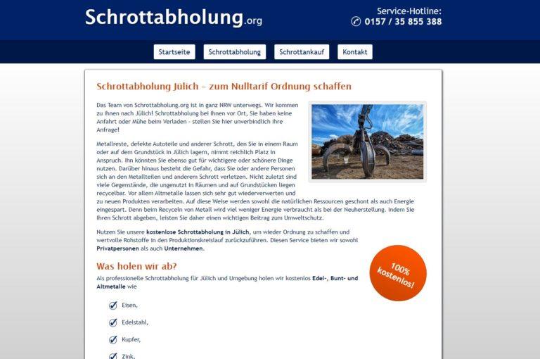 Schrottabholung Jülich – zu jeder Zeit möglich