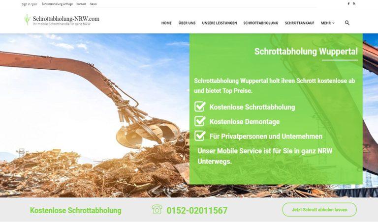 Abholung von Schrott, sicher und günstig mit Schrottabholung Wuppertal