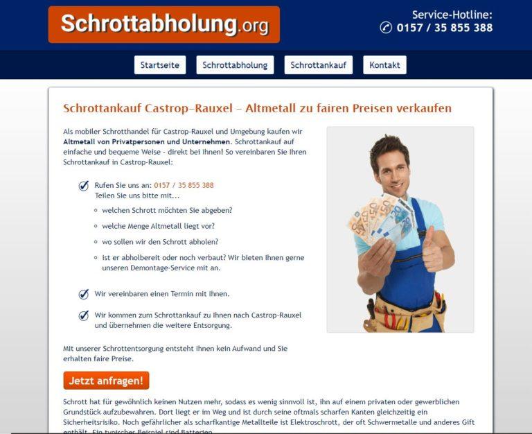 Der Schrottankauf Castrop-Rauxel garantiert faire Preise und professionelles Schrott-Recycling