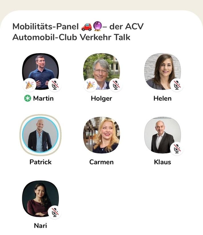 Clubhouse: ACV nutzt neue Network-App für Diskussion über Mobilität