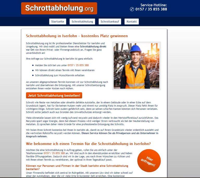 Altmetallabholung in Iserlohn – mit Metall Geld verdienen