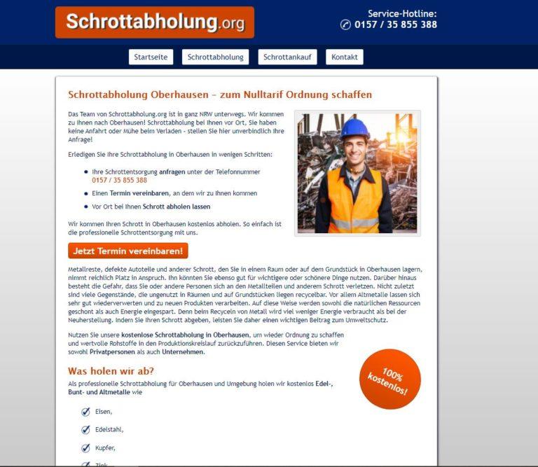 Den Rohstoff Metall erhalten mit der Schrottabholung in Oberhausen