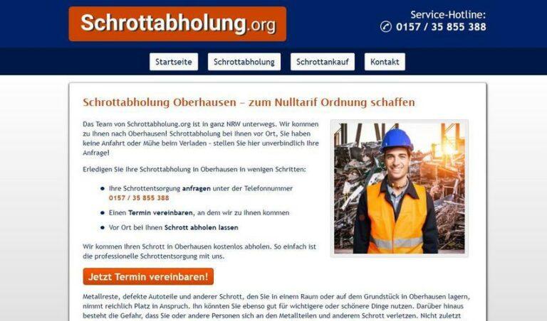 Schrottabholung in Oberhausen ist immer für Sie da