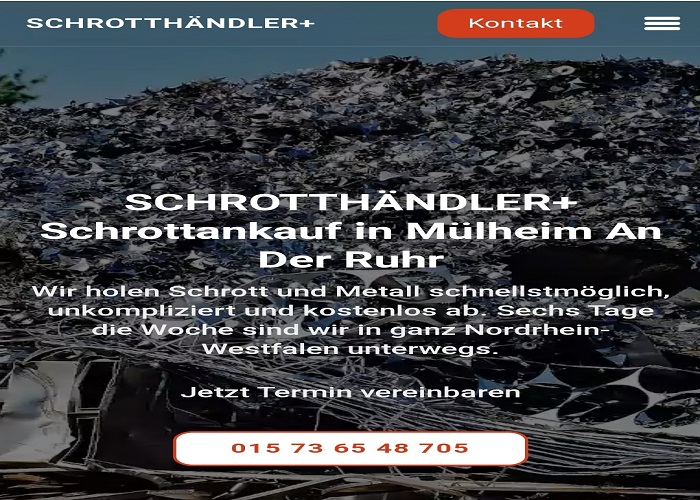 der Schrottankauf In Mülheim an der Ruhr & kostenlosen Abholung und tagesaktuelle Preise für den Metallschrott zu bezahlen