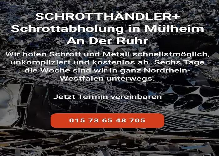 Schrottabholung Mülheim an der Ruhr problemlos durch mobile Schrotthändler