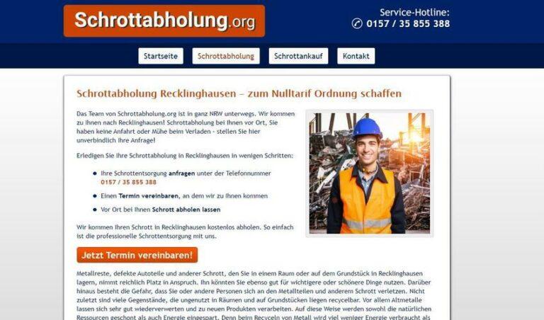 Die Schrottabholung in Recklinghausen ist tätig in einem der ältesten Berufe der Menschheit